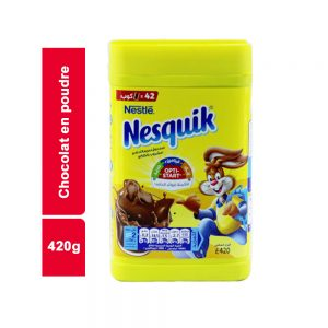 CHOCOLAT EN POUDRE  NESQUIK PLUS BOITE 420 GR