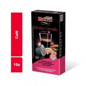 CAFE COMPATIBLE MOLINARI PAQUET 10 CAPSULES
