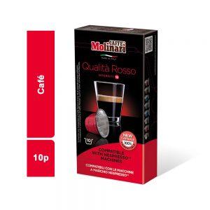 CAFE COMPATIBLE ROSSO MOLINARI PAQUET 10 CAPSULES