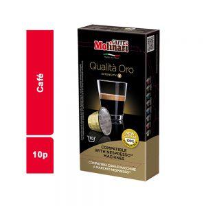 CAFE COMPATIBLE ORO MOLINARI PAQUET 10 CAPSULES