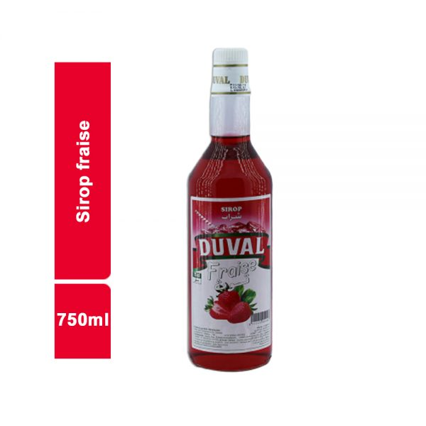 SIROP FRAISE DUVAL BOUTEILLE 750 ML