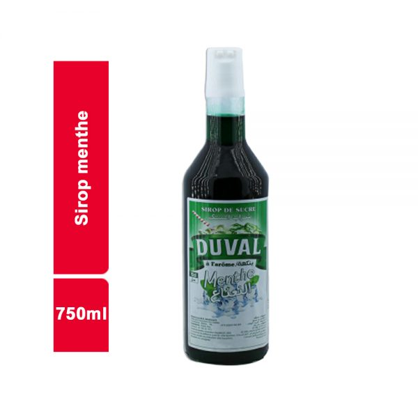 SIROP MENTHE DUVAL BOUTEILLE 750 ML