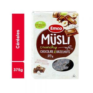 CEREALES MUESLI CHOCOLAT EMCO PAQUET 375 GR