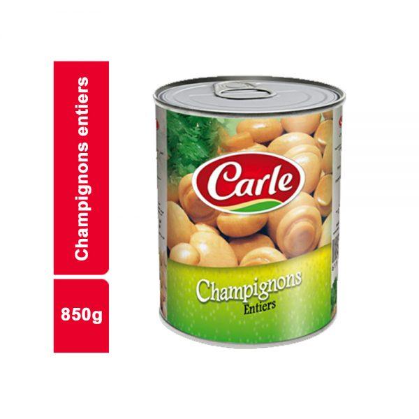 CHAMPIGNON ENTIER CARLE BOITE 850 GR