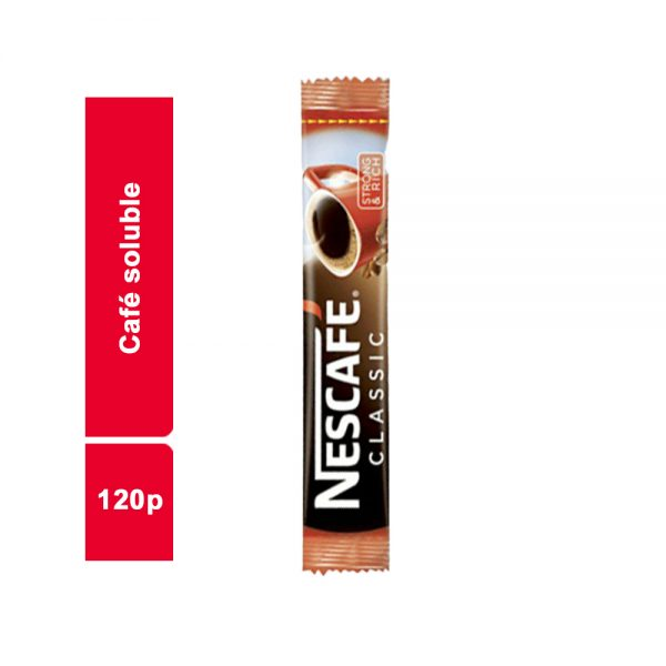 CAFE SOLUBLE STANDARD NESCAFE PAQUET 120 SACHETS