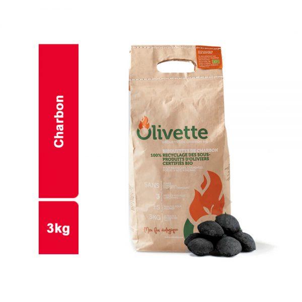 CHARBON OLIVETTE SACHET 3 KG