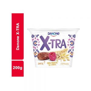 YAOURT X-TRA DATTE FRAM CEREAL DANONE POT 200 GR