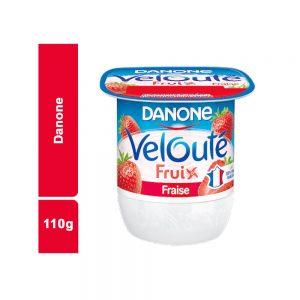 YAOURT VELOUTE FRAISE DANONE POT 110 GR