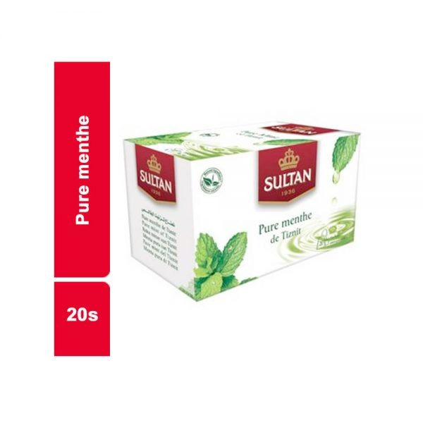 INFUSIONS NATURE PURE MENTHE SULTAN PAQUET 20 SACHETS