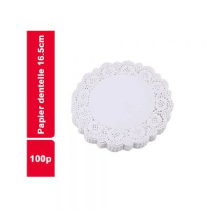 PAPIER DENTELLE DIAM 16,5CM  PAQUET 100 PIECES