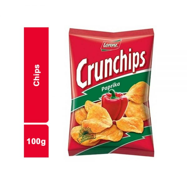 CHIPS PAPRICA CRUNCHIPS SACHET 100 GR