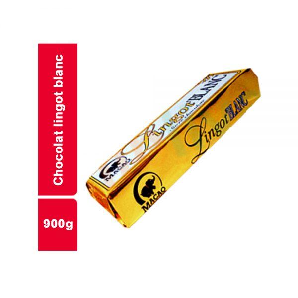 CHOCOLAT LINGOT BLANC MACAO PAQUET 900 GR