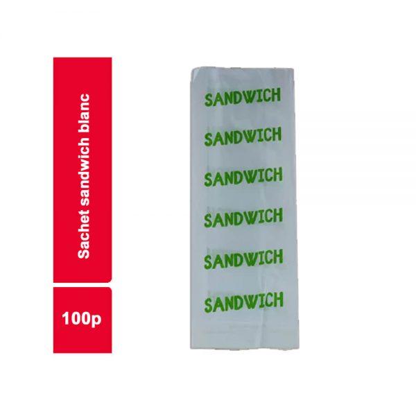 SACHET SANDWICH BLANC  COLIS 100 PIECES