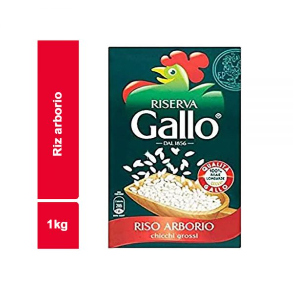 RIZ ARBORIO GALLO PAQUET 1 KG