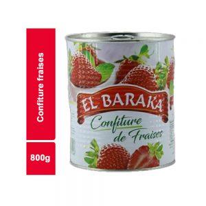 CONFITURE FRAISE EL BARAKA BOITE 800 GR