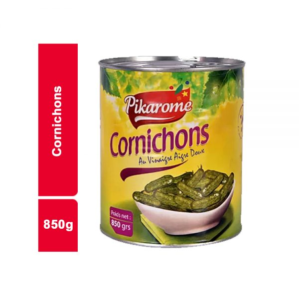 CORNICHONS AIGRE DOUX PIKAROME BOITE 850 GR