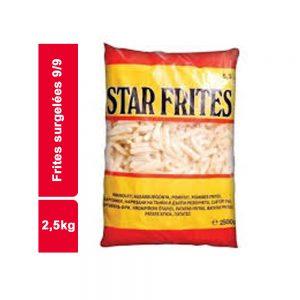 FRITES SURGELEE 9/9 STAR SACHET 2,5 KG
