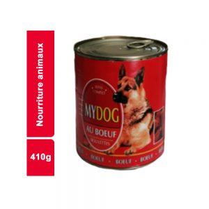 BOUCHEES EN SAUCE BOEUF MY DOG BOITE 410 GR