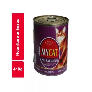 BOUCHEES EN SAUCE SAUMON MY CAT BOITE 410 GR