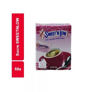 SUCRE SWEETNLOW PAQUET 50 SACHETS