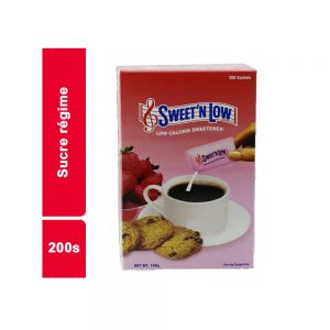 SUCRE REGIME SWEETNLOW PAQUET 200 SACHETS