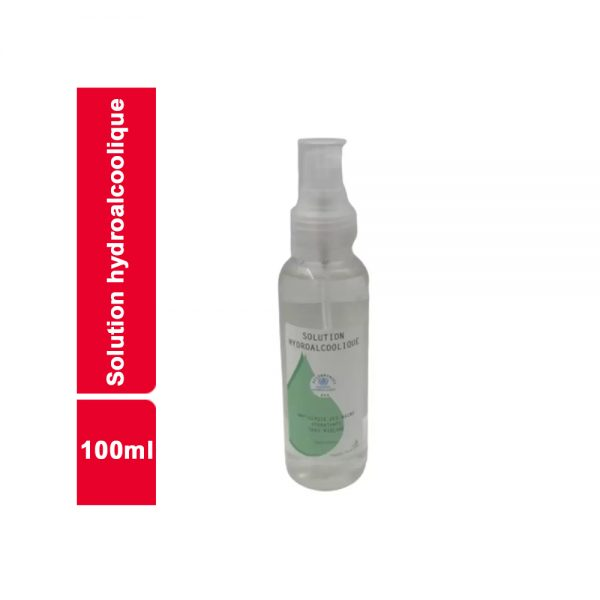 SOLUTION HYDROALCOOLIQUE FLACON 100 ML