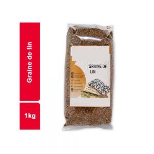 GRAINS DE LIN JAUNE  SACHET 1 KG