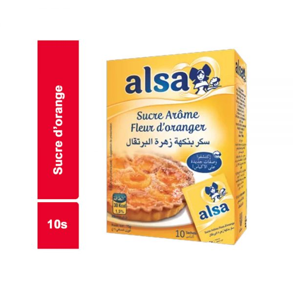 SUCRE D'ORANGE ALSA PAQUET 10 SACHETS