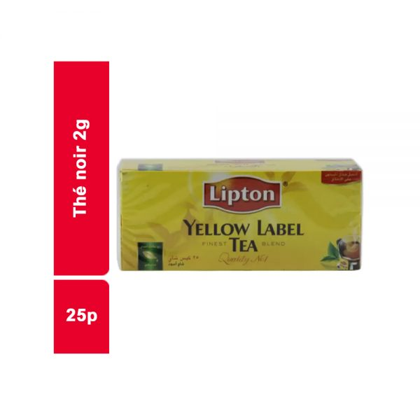 THE NOIR LIPTON PAQUET 25 SACHETS
