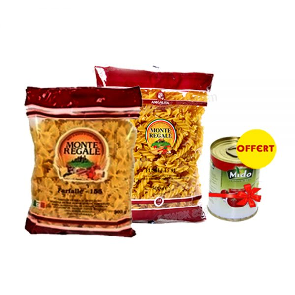 PACK MONTE REGALE 500 GR = MIDO TOMATE CONCENTREE 120 GR OFFERT
