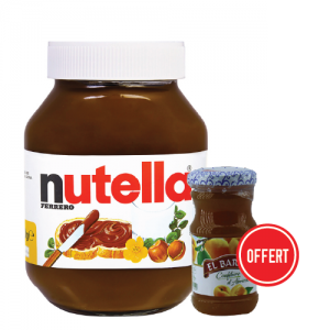 PACK NUTELLA= CONFITURE ABRICO OFFERT