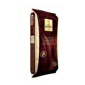 CHOCOLAT COUVERTURE BLANC CACAO BARRY PAQUET  2,5 KG